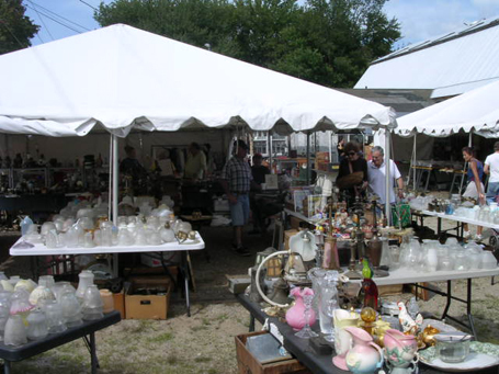 Davy Lane's Booth at Brimfield